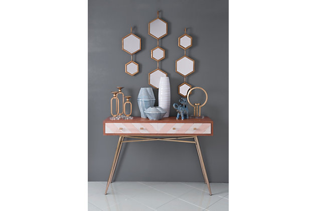 Bee Hexagon Wall Mirror, , large