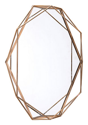 Octagonal Deco Inspired Large Mirror, , large