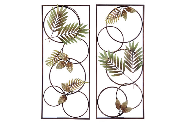 Recife Tropical Flair Wall Panels (Set of 2), , large