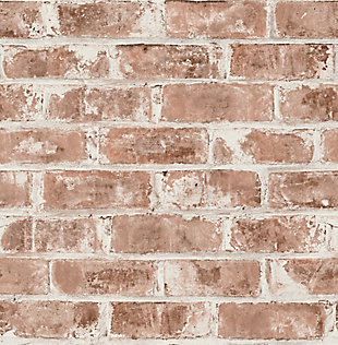 Brewster Jomax Red Warehouse Brick Wallpaper, Red, large