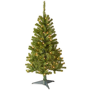 4 ft. Canadian Grande Fir Tree with Clear Lights, , large