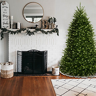 6.5 ft. Dunhill Blue Fir Tree with Clear Lights, , rollover