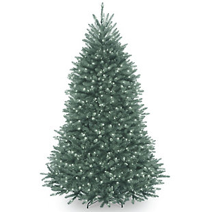 6.5 ft. Dunhill Blue Fir Tree with Clear Lights, , large