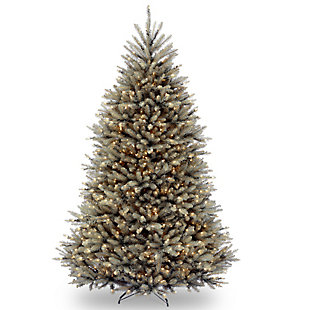 7.5 ft. Dunhill Blue Fir Tree with Clear Lights, , large