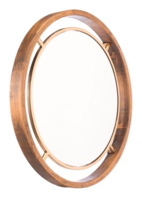 Ashley Luxus Round Mirror, Gold Finish
