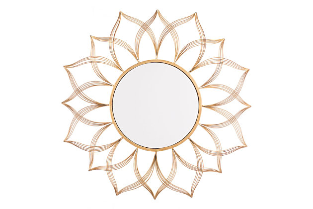 Flor Shaped Wall Mirror, , large