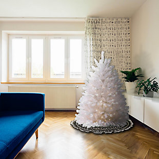 4.5 ft. Dunhill White Fir Tree with Clear Lights, , rollover