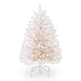 4.5 ft. Dunhill White Fir Tree with Clear Lights, , large
