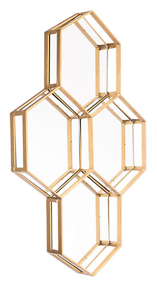 Honeycomb Four Hexagon Mirror, , large