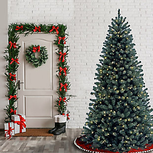 6.5 ft. North Valley Blue Spruce Tree with Clear Lights, , rollover
