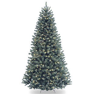 7.5 ft. North Valley Blue Spruce Tree with Clear Lights, , large