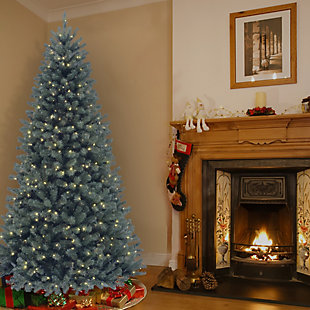 9 ft. North Valley Blue Spruce Tree with Clear Lights, , rollover