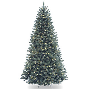 9 ft. North Valley Blue Spruce Tree with Clear Lights, , large