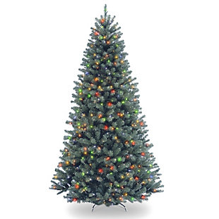 7.5 ft. North Valley Blue Spruce Tree with Multicolor Lights, , large