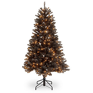 4.5 ft. North Valley Black Spruce Tree with Clear Lights, , large