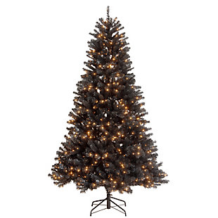 7.5 ft. North Valley Black Spruce Tree with Clear Lights, , large