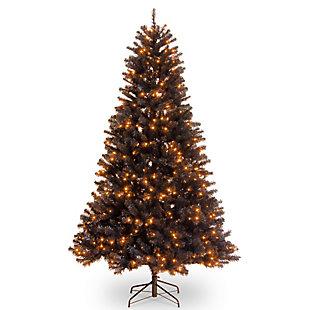 6.5 ft. North Valley Black Spruce Tree with Orange Lights, , large