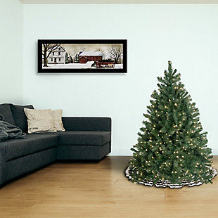 4.5 ft. Downswept Douglas Blue Fir Tree with Clear Lights, , rollover