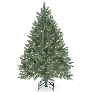 4.5 ft. Downswept Douglas Blue Fir Tree with Clear Lights, , large