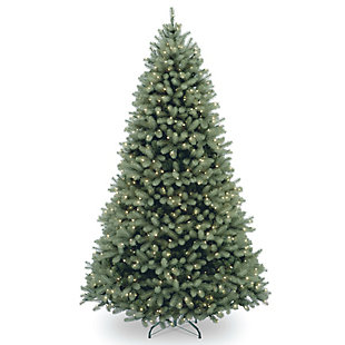 6 ft. Downswept Douglas Blue Fir Tree with Clear Lights, , large