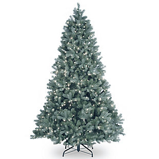 7 ft. Downswept Douglas Blue Fir Tree with Clear Lights, , large