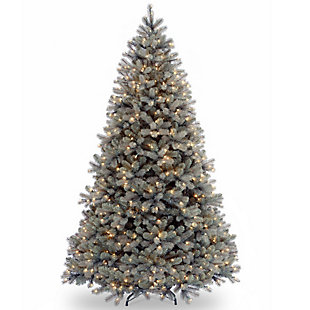 7.5 ft. Downswept Douglas Blue Fir Tree with Clear Lights, , large