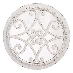 Anteek Scroll Design Plaque With Mirror, , large