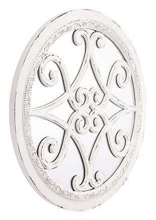 Anteek Scroll Design Plaque With Mirror, , rollover