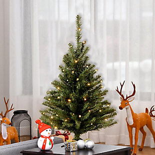 3 ft. Kincaid Spruce Tree with Clear Lights, , rollover