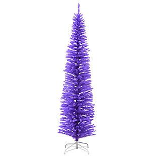 7.5 ft. Lavender Color Slim Tree Decoration, , large