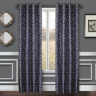 "Basra 84"" Jacquard Tile Panel Curtain, , large"