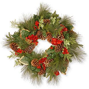 "27"" Evergreen Wreath, , rollover"