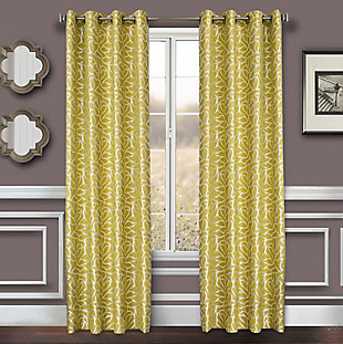 "Basra 84"" Jacquard Tile Panel Curtain, , rollover"