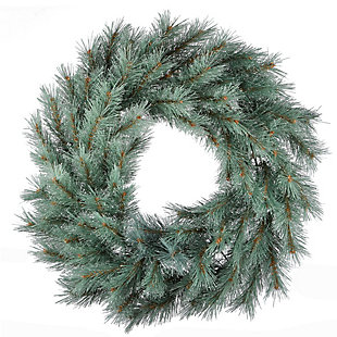 """24"""" Frosted Ontario Blue Pine Wreath, , large"""