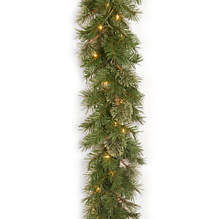 9 ft. Atlanta Spruce Garland with Clear Lights, , large