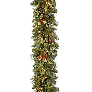 9 ft. Carolina Pine Garland with Clear Lights, , large