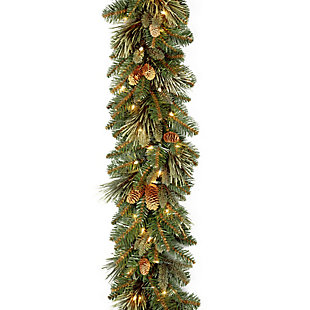 9 ft. Carolina Pine Garland with Battery Operated LED Lights, , large
