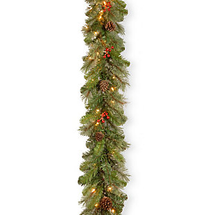 9 ft. Cashmere Berry Garland with Clear Lights, , large