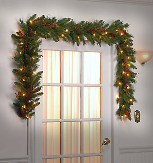 9 ft. Classical Collection Garland with Clear Lights, , rollover