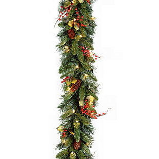 9 ft. Classical Collection Garland with Clear Lights, , large