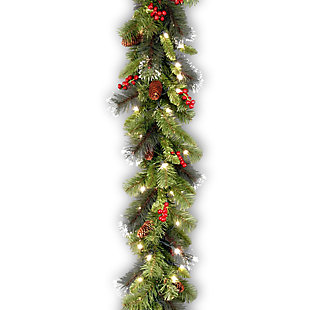9 ft. Crestwood Spruce Garland with Clear Lights, , large