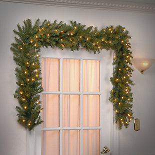 9 ft. Norwood Fir Garland with Clear Lights, , rollover