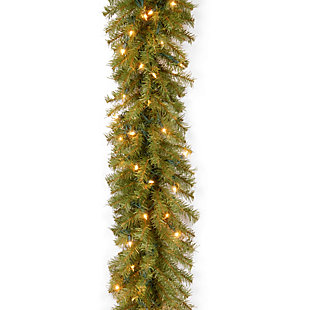 9 ft. Norwood Fir Garland with Clear Lights, , large