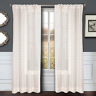 """Bizou 84"""" Sheer Panel Curtain, , large"""