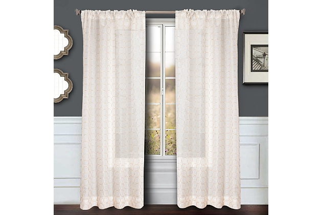 "Bizou 84"" Sheer Panel Curtain, Gold, large"