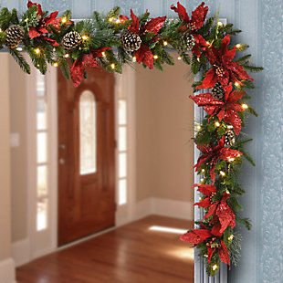 9 ft. Decorative Collection Garland with Clear Lights, , rollover