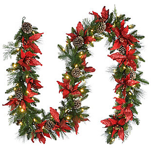 9 ft. Decorative Collection Garland with Clear Lights, , large