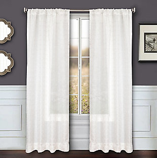 "Bizou 84"" Sheer Panel Curtain, Silver, large"