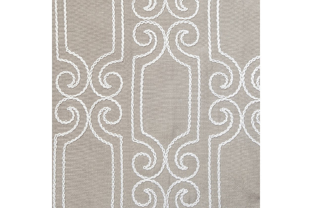 """Bexley 84"""" Embroidered Panel Curtain, , large"""