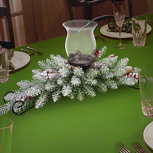 30 in. Dunhill Fir Centerpiece and Candle Holder, , rollover